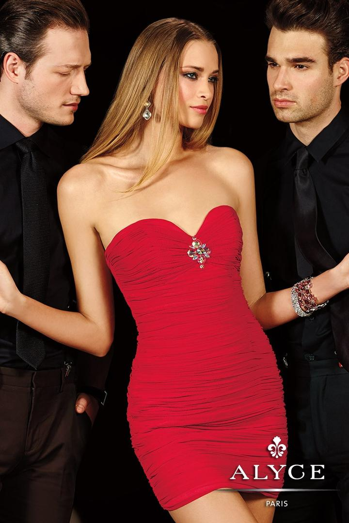 Alyce Paris Homecoming - 4387 Dress In Red
