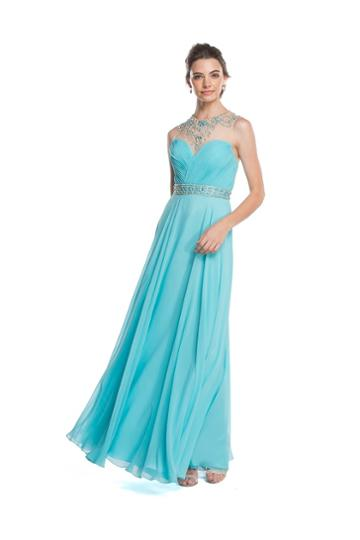 Aspeed - L1585 Ruched A-line Evening Dress With Open Back