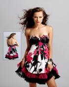 Blush - Strapless Floral Cocktail Dress 9033