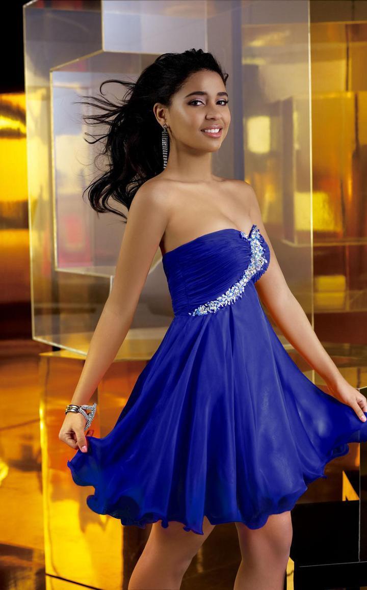Alyce Paris Sweet 16 - 3560 Strapless Sweetheart Ruffled Short Dress