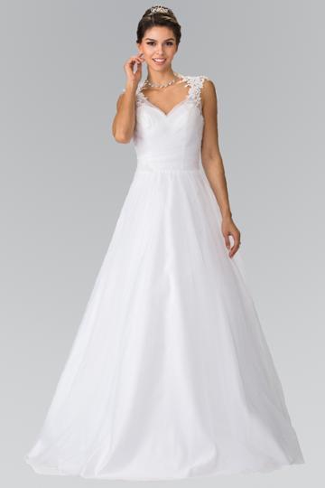 Elizabeth K - Gl2202 Embroidered Ruched Bridal Dress