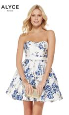 Alyce Paris - 3773 Strapless Brocade Semi-sweetheart A-line Dress