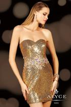 Alyce Paris Homecoming - 4401 Dress In Gold