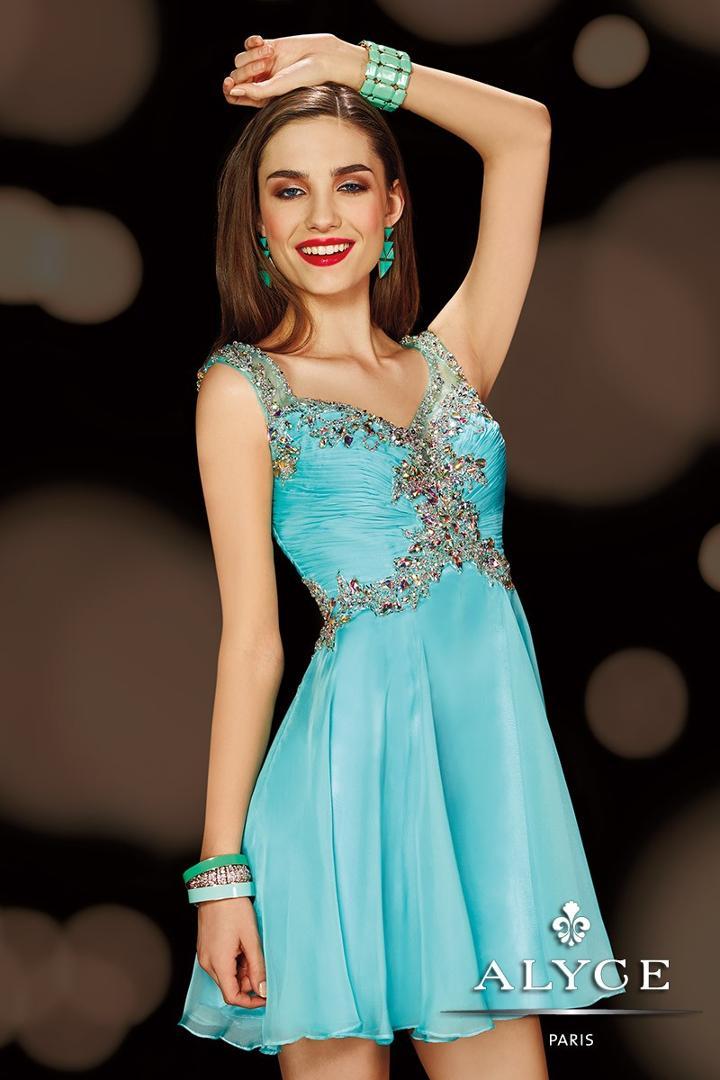 Alyce Paris Homecoming - 3619 Dress In Aqua