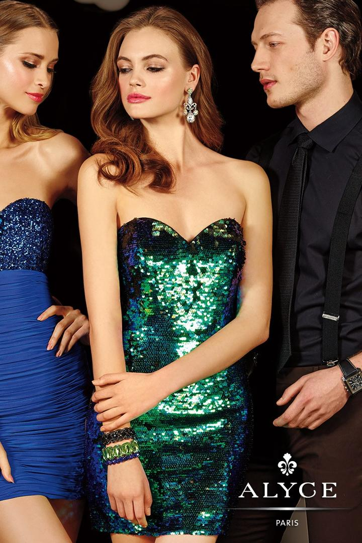 Alyce Paris Homecoming - 4395 Dress In Green