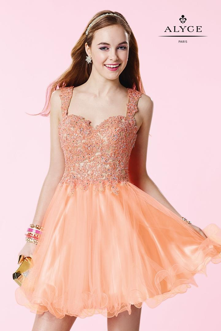 Alyce Paris Homecoming - 3648 Dress In Honey Peach