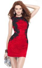 Alyce Paris Homecoming - 4443 Embellished Jewel Neck Sheath Dress