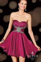 Alyce Paris Homecoming - 3606 Dress In Raspberry