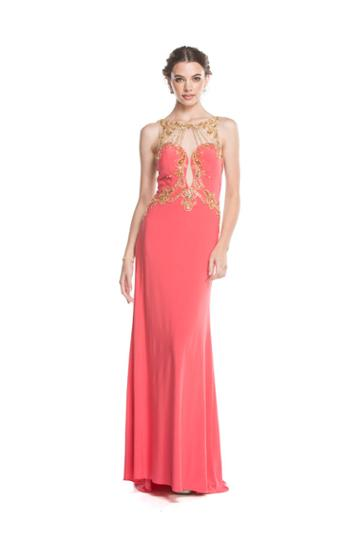 Aspeed - L1612 Sheer Embellished Cutout Evening Gown