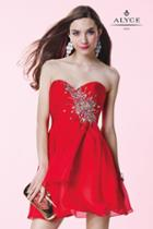 Alyce Paris Homecoming - 3669 Dress In Red