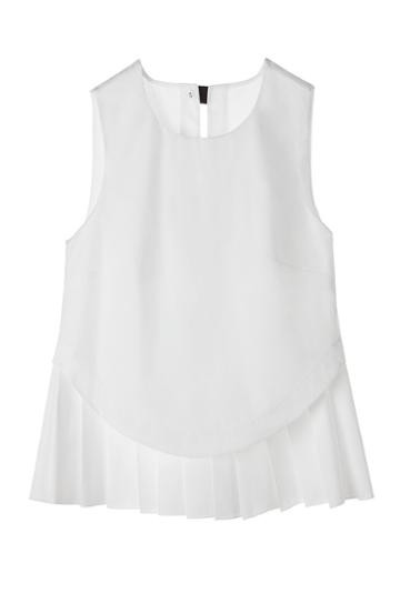 Cuyana Pleated Poplin Shell