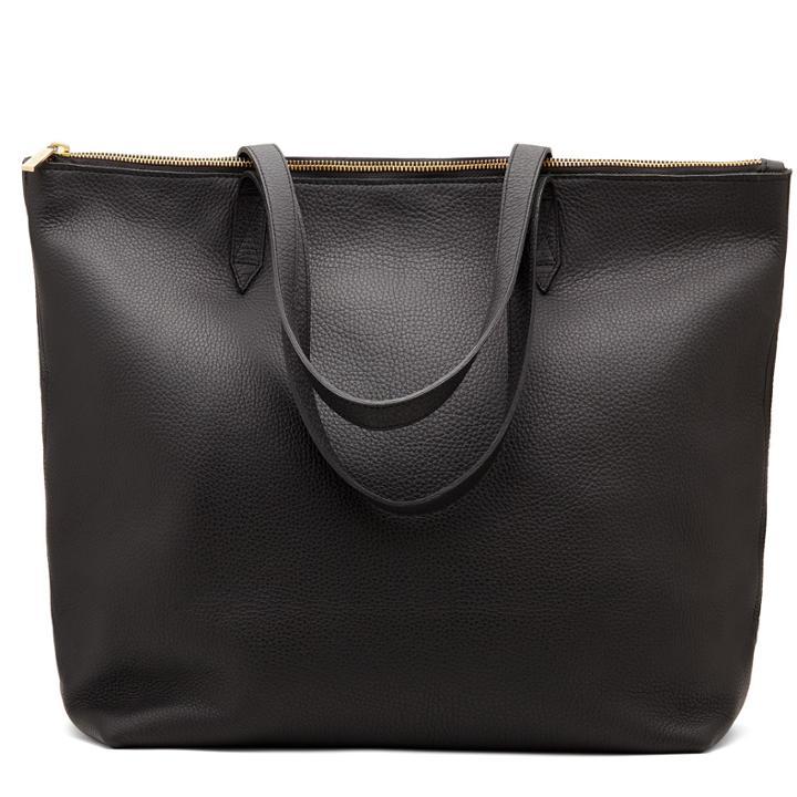 Cuyana Classic Leather Zipper Tote