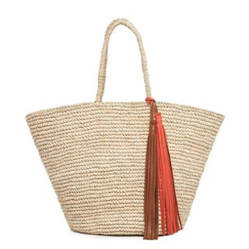 Cuyana Straw Bag With Tassel