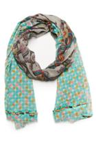 Dailylook Vismaya Mixed Paisley Scarf In Multi-colored At Dailylook