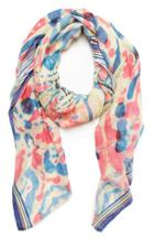 Dailylook Vismaya Abstract Fringe Scarf In Multi-colored At Dailylook