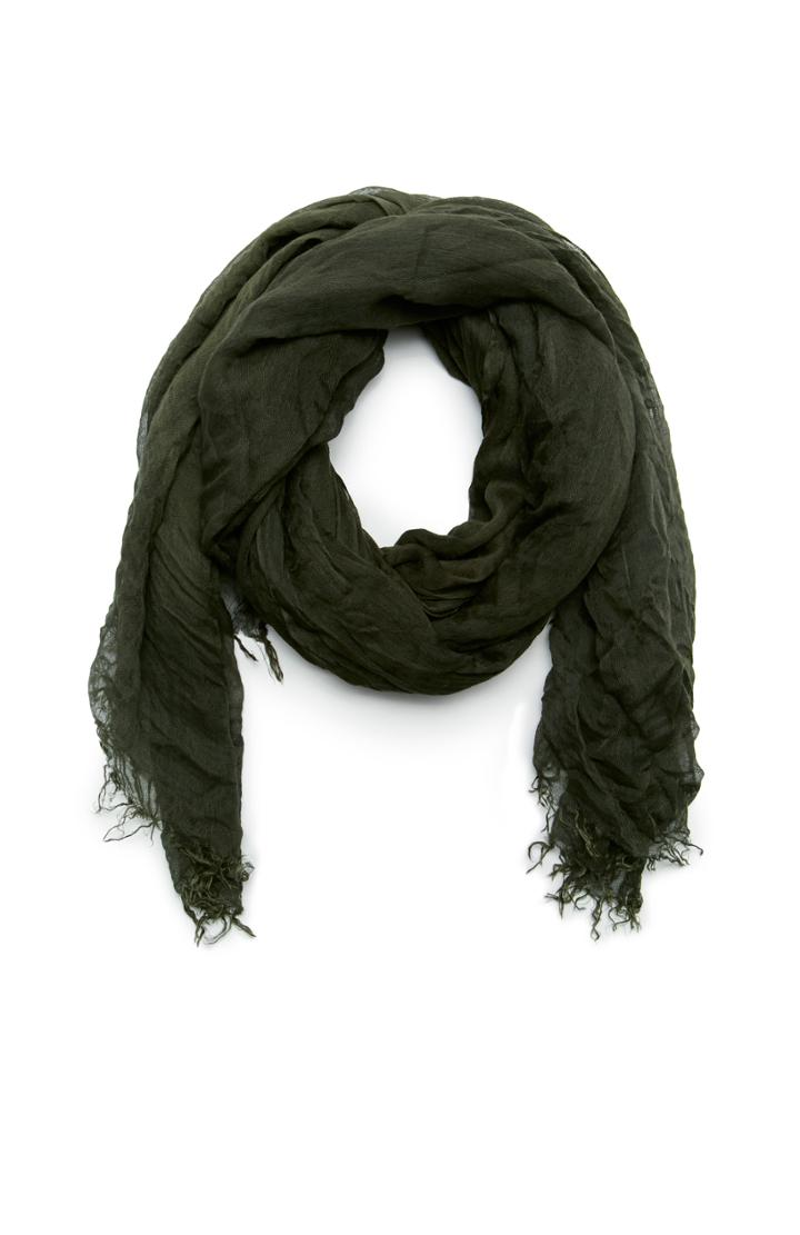 Dailylook Spun By Subtle Luxury Modal Luxe Solid Scarf In Dark Olive At Dailylook