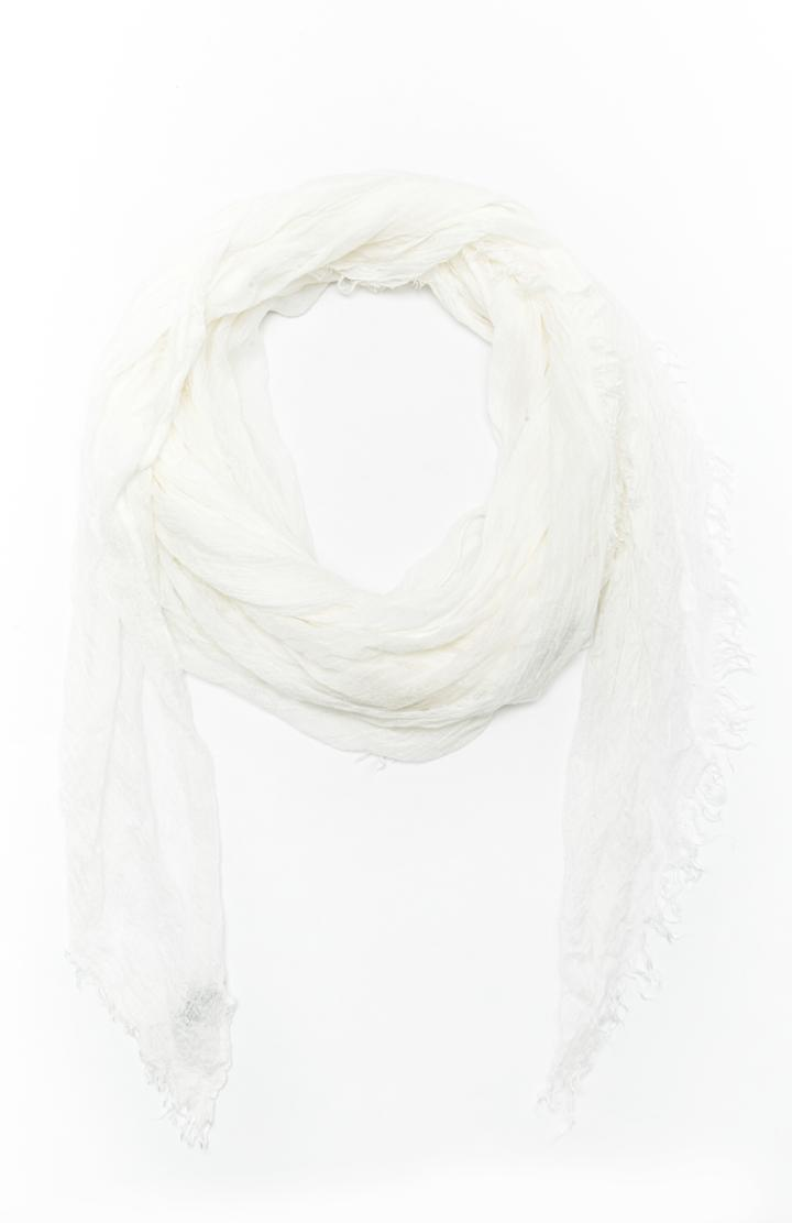 Dailylook Spun By Subtle Luxury Modal Luxe Solid Scarf In White At Dailylook