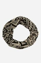 Dailylook Tribal Knit Infinity Scarf In Black / Beige At Dailylook