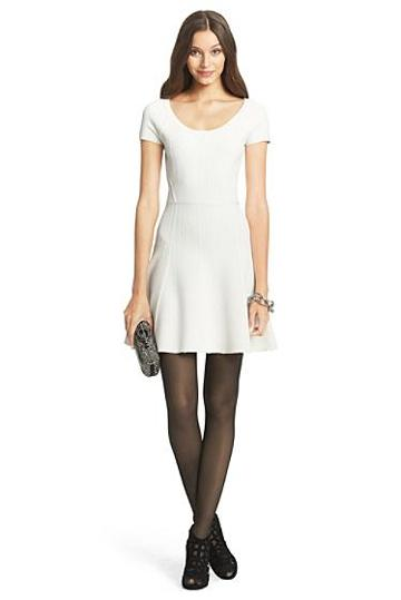 Diane Von Furstenberg Dvf Shea Knit Fit And Flare Dress