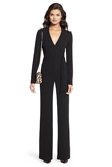 Diane Von Furstenberg Margot Silk Wrap Jumpsuit