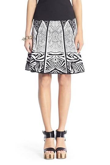 Diane Von Furstenberg Samara Structured Knit Flared Skirt
