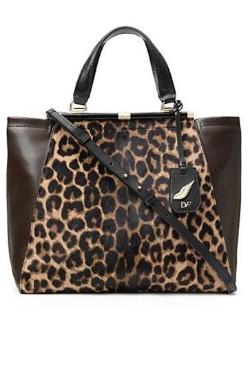 Diane Von Furstenberg 440 Runaway Leopard Haircalf Tote