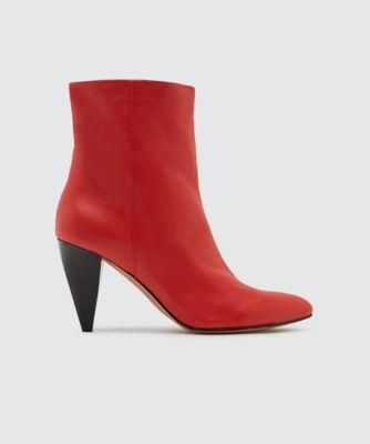 Dolce Vita Loxen Booties Red