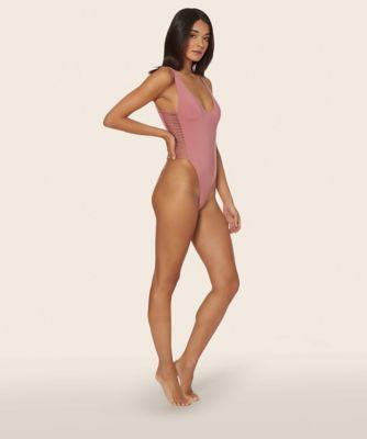 Dolce Vita Laced And Tied Macrame One Piece Dusty Rose