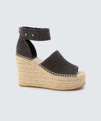 Dolce Vita Straw Wedges Anthracite