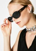 Replay Gold Detail Oval Sunglasses