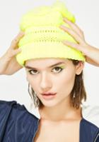 Joia Cable Knit Neon Beanie