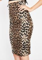 Diosa Leopard Pencil Skirt