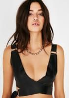 Rehab Leather Crop Top