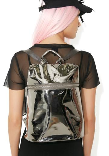 Sixtyseven/mtng Silver Technoglow Metallic Backpack