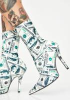 Cape Robbin Dollar Money Booties White