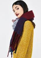Ana Accessories Plaid Fringed Scarf