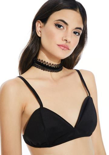 Fame Accessories Multi Style Lace Choker Set Black