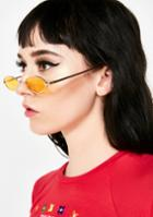 Lucent Yellow Skinny Oval Sunglasses