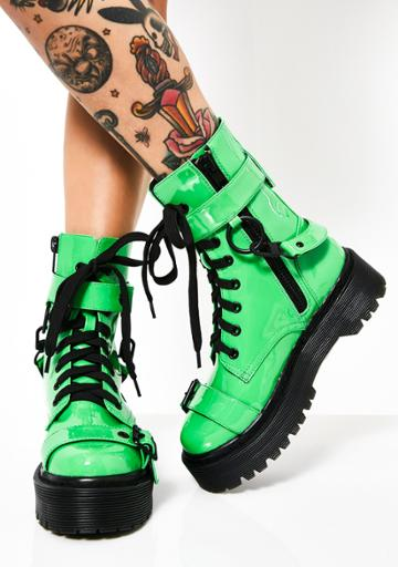 Current Mood Toxic Slime Combat Boots