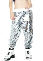 Rehab Sequin Silver Joggers