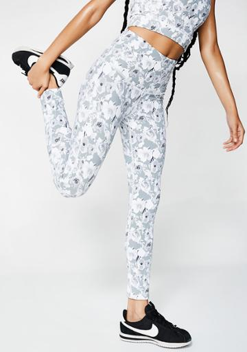 Mono B Gray High Waist Floral Leggings