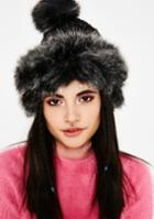 Fame Accessories Furry Knit Beanie