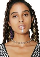 Ana Accessories Ball Chain Silver Choker Necklace