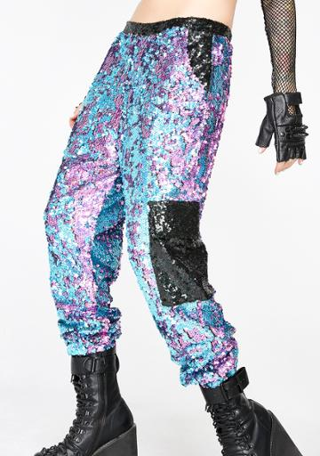 Jaded London Sequin Cargo Trousers