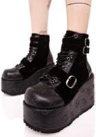 Demonia Vertex Buckled Boots