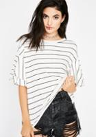 Audrey 3+1 Striped Short Sleeve Tee