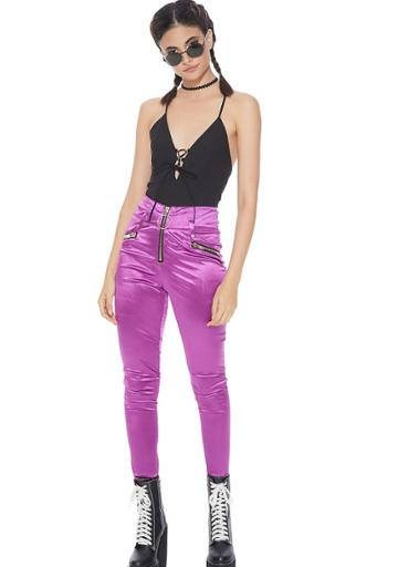 Essue High Waisted Satin Pants