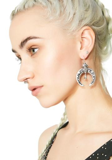 Ana Accessories Tribal Crescent Earrings