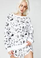 Wildfox Couture Mike Perry Doodles Sommers Sweater