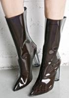 Cape Robbin Black Clear Perspex Booties